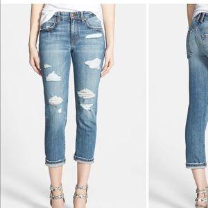 """Joe's Jeans Slim Boyfriend Crop Jeans """"Gessa"""""""